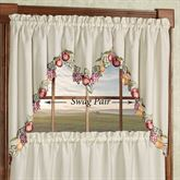 Fruitful Swag Valance Pair Oatmeal 60 x 36