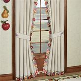 Fruitful Curtain Pair Oatmeal 84 x 84