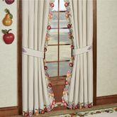 Fruitful Curtain Pair Oatmeal 84 x 84