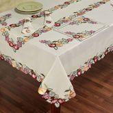 Fruitful Oblong Tablecloth Oatmeal