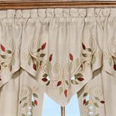 Scrolling Leaves Ascot Valance Oatmeal 24 x 18