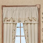 Scrolling Leaves Tailored Valance Oatmeal 72 x 18