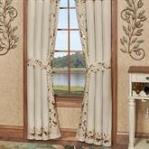 Scrolling Leaves Tailored Curtain Pair Oatmeal 84 x 84