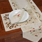 Scrolling Leaves Placemats Oatmeal Set of Four