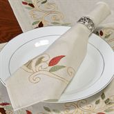 Scrolling Leaves Napkins Oatmeal Set of Four