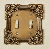 Fleurista Double Switch Antique Brass