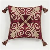 Roman Empire Piped Square Pillow
