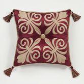 Roman Empire Piped Square Pillow