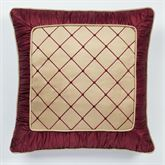 Roman Empire European Pillow with Sham Gold Burgundy