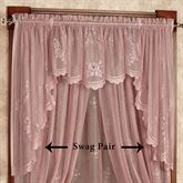 Cameo Rose Swag Valance Pair Victorian Rose 56 x 38