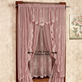 Cameo Rose Long Swag Valance Pair Victorian Rose 56 x 63