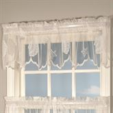 Seashells Lace Tailored Valance  56 x 13
