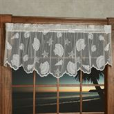 Seashells Lace Scalloped Valance 56 x 18