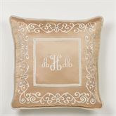 Monarch Corded Embroidered Pillow Gold/Bronze 20 Square
