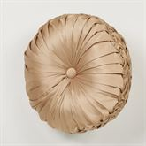 Monarch Tufted Pillow Gold/Bronze Round