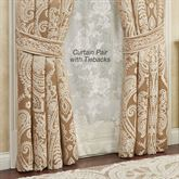 Monarch Tailored Curtain Pair Gold/Bronze