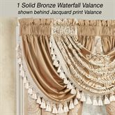 Monarch Solid Waterfall Valance Gold/Bronze 52 x 30