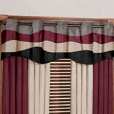 Apex Wide Grommet Valance Charcoal/Onyx 78 x 20