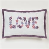 Wildflowers LOVE Flanged Pillow Ivory Rectangle