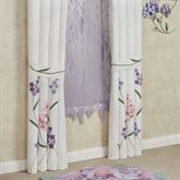 Wildflowers Tailored Curtain Pair Ivory 96 x 84