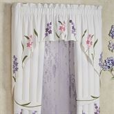 Wildflowers Swag Contour Valance Ivory 72 x 42