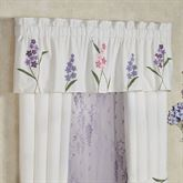 Wildflowers Tailored Valance Ivory 72 x 18