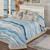 Coastal View Grande Bedspread Blue