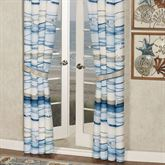 Coastal View Tailored Curtain Pair Blue