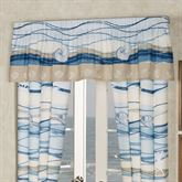 Coastal View Tailored Valance Blue 72 x 18