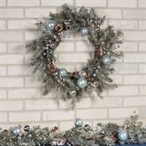 Holiday Ice Wreath Blue