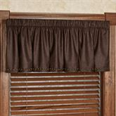 Stonehill Tailored Valance Chocolate 72 x 18