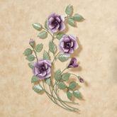 Les Fleurs Left Only Rose Bouquet Wall Art Mulberry Left