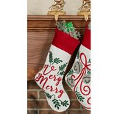 Very Merry Stocking Red