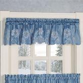 Snowfall Tailored Valance Celestial Blue 60 x 12
