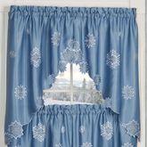 Snowfall Swag Valance Pair Celestial Blue 60 x 36