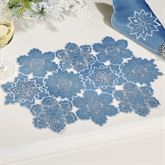 Snowfall Placemats Celestial Blue Set of Four