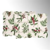 Winter Botanical Table Runner Ivory 14 x 51