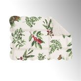 Winter Botanical Rectangle Placemats Ivory Set of Four
