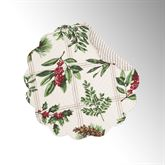 Winter Botanical Round Placemats Ivory Set of Four