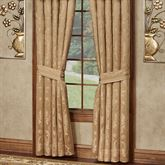 Monaco Wide Tailored Curtain Pair Gold