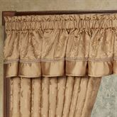 Monaco Scalloped Valance Gold 72 x 18