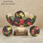 Tuscan Fruit Orbs Only Multi Jewel Set of Three
