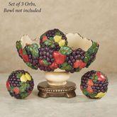 Tuscan Fruit Orbs Only Multi Jewel Set of Three