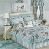 Shell Harbor Quilt Set Aqua