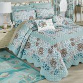Shell Harbor Grande Bedspread Aqua
