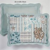 Shell Harbor Reversible Quilted Sham Aqua