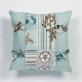 Shell Harbor Tailored Pillow Aqua 18 Square