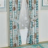 Shell Harbor Tailored Curtain Pair Aqua