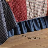 Lakehouse Gathered Bedskirt Multi Warm