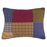 Lakehouse Quilted Patchwork Sham Multi Warm Standard